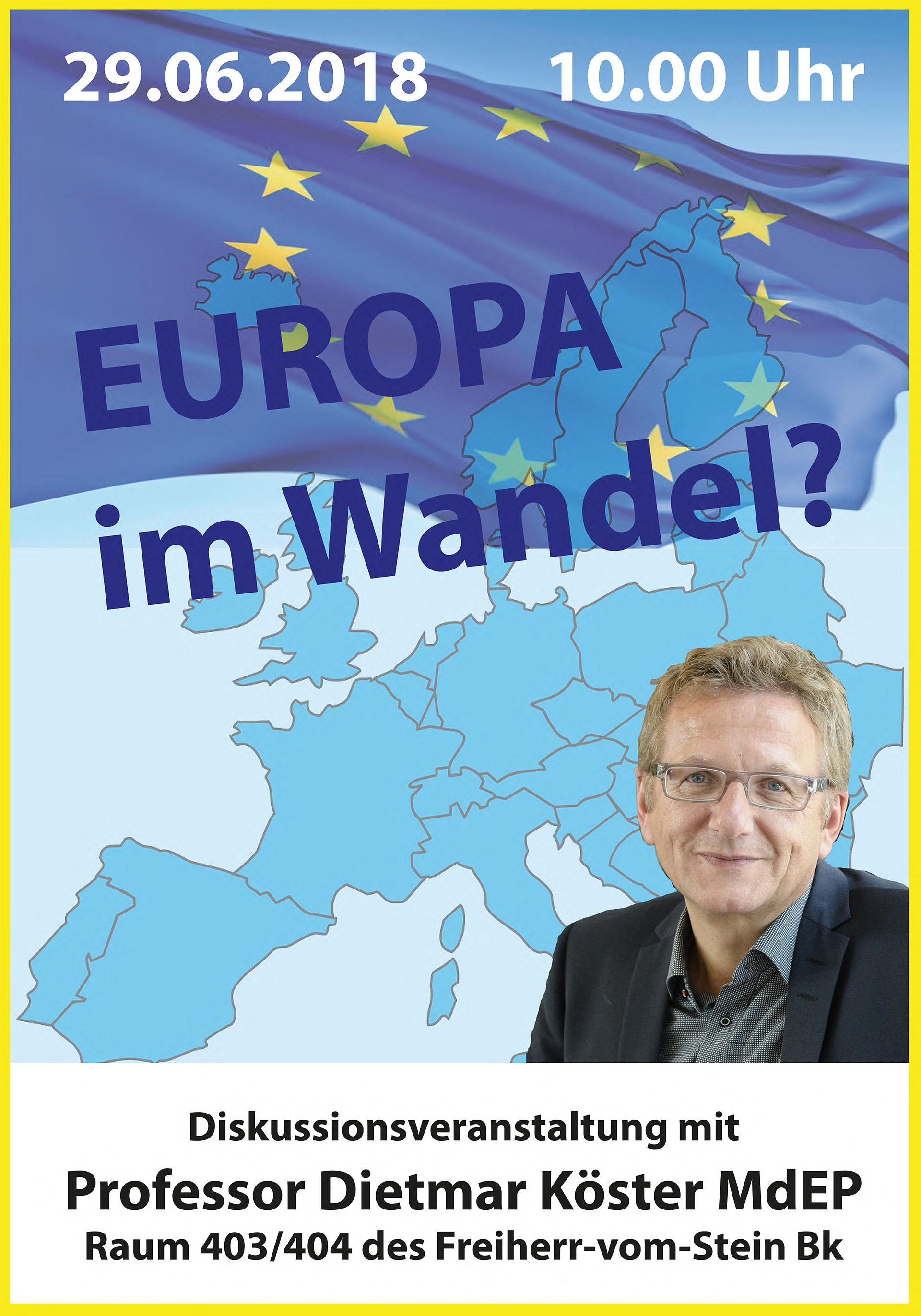 Europa neu 2018neuer Raum