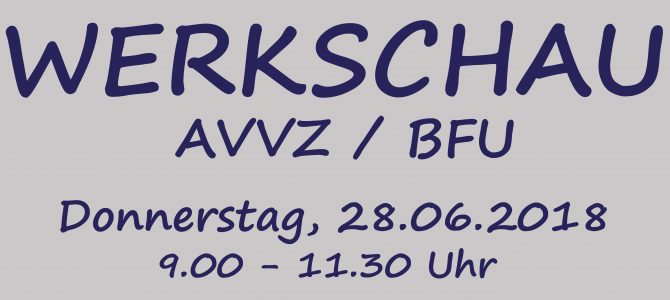 Werkschau AVVZ und BFU