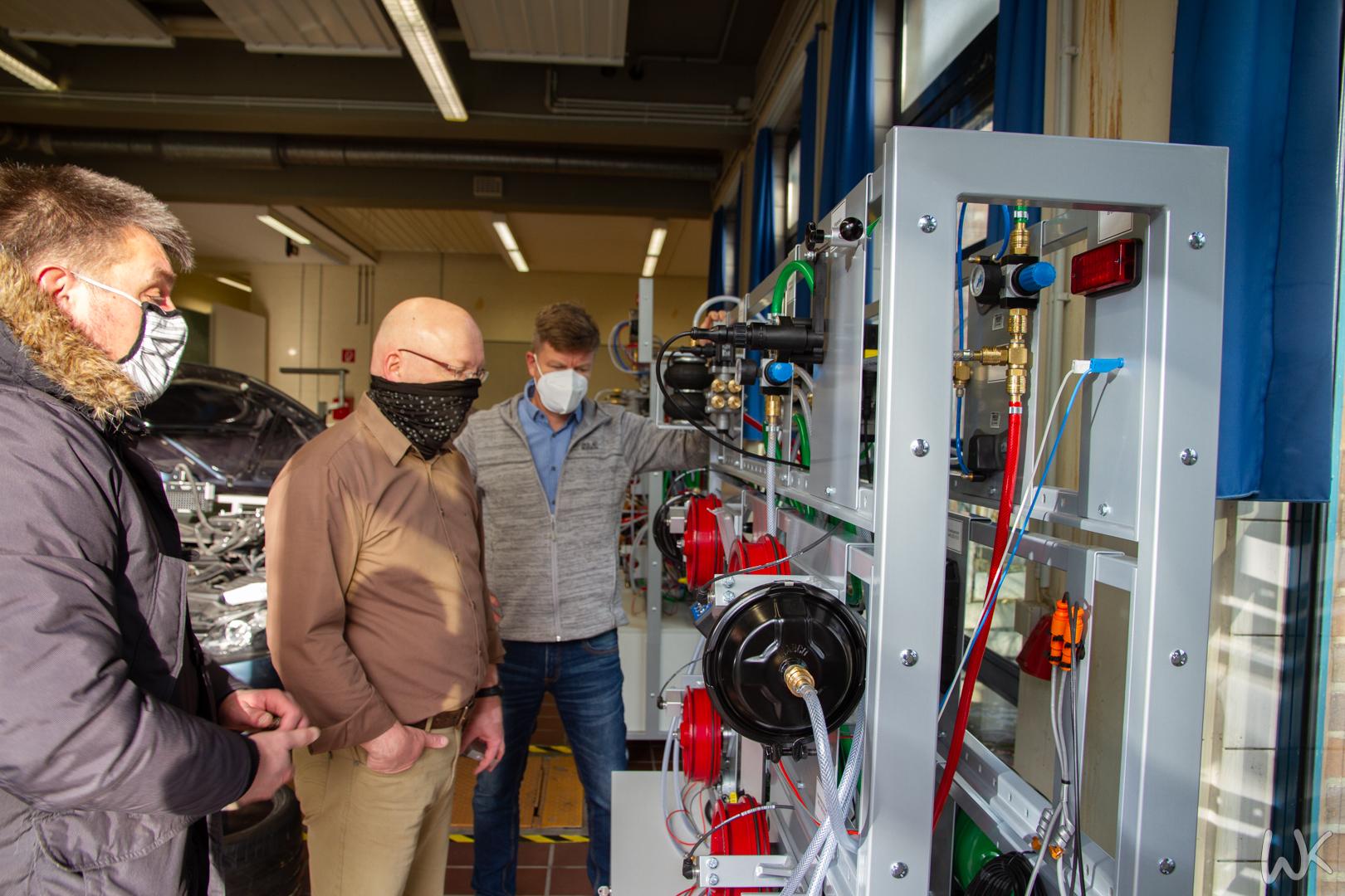 Druckluftbremsanlage für KFZ-Werkstatt